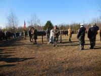Ceremony at the monument, Fall event 2014